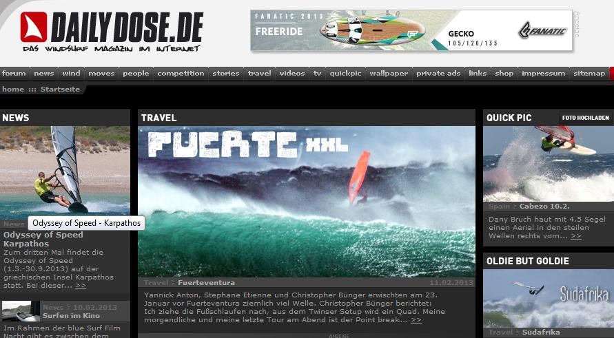 Windsurfen Daily Dose Südkap Surfing