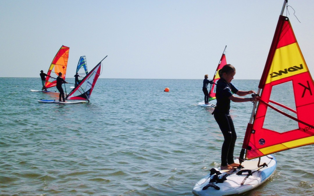 Windsurfen lernen  bei optimalen Bedingungen im Süden Sylts
