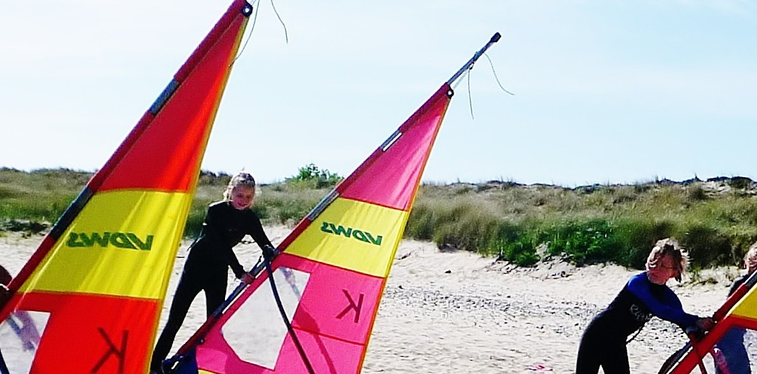 Nordsee Sommer Windsurfen aus Sylt
