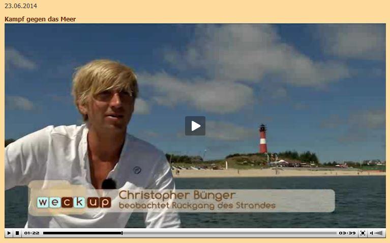 Christopher Bünger bei weck up über die Hörnumer Odde