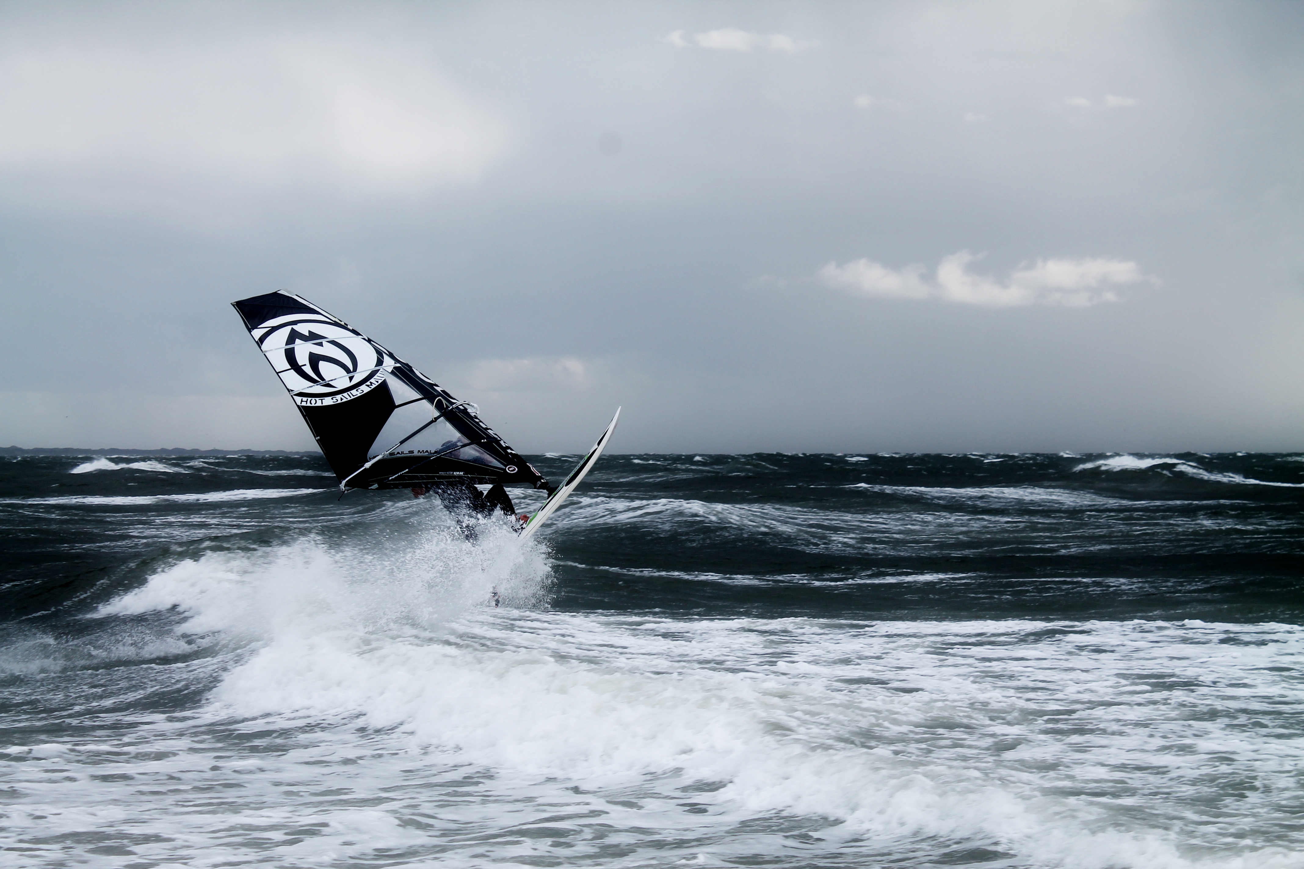 Sylt Windsurfer Sprung