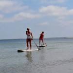 SUP cruisen in der Flachwasser Bucht vor Hörnum ideal für Einsteiger