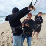 erste Einheit Kitesurfen