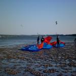 Kiteschulung auf der Sandbank