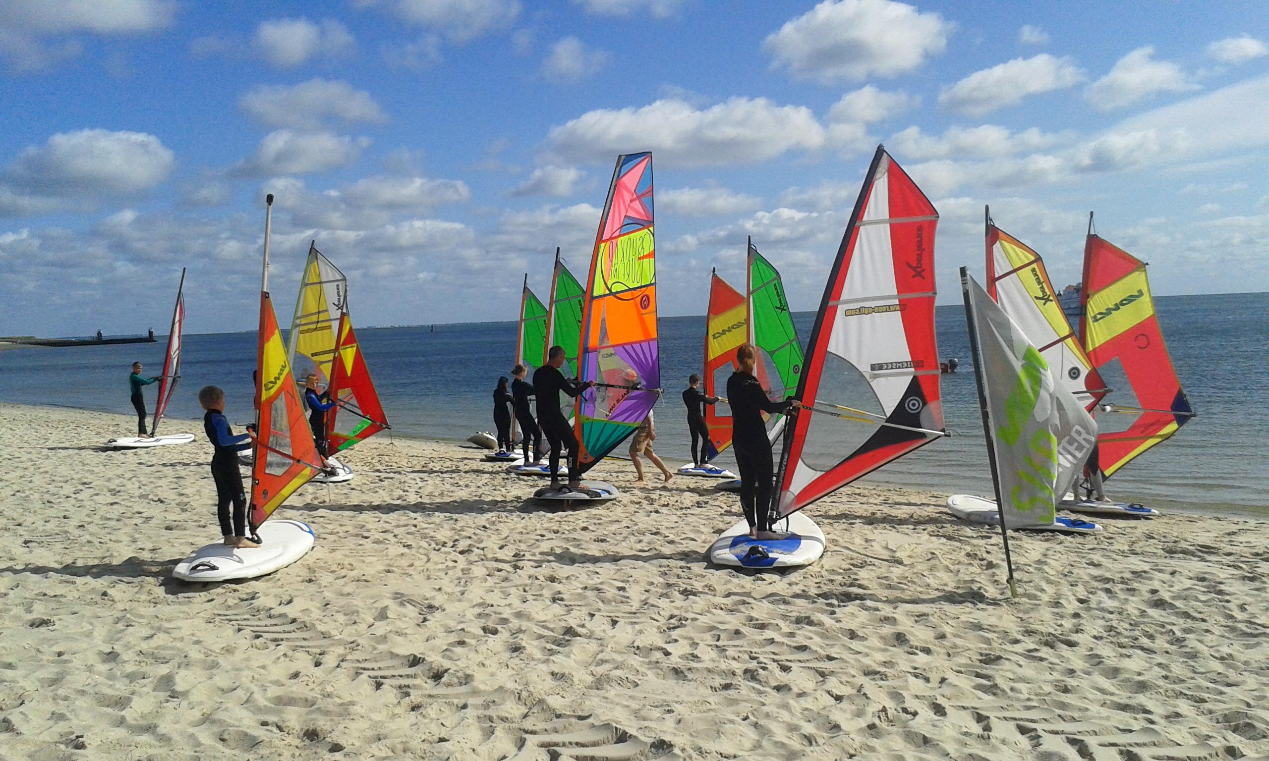 Windsurfen lernen Sylt Nordsee